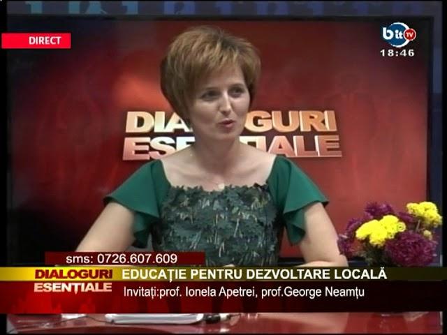 DIALOGURI ESENTIALE 19 OCTOMBRIE 2017 - EDUCATIE PENTRU DEZVOLTARE LOCALA