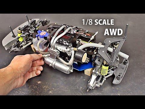 TWIN Cylinder 4 Stroke R/C Car Build & First Test!