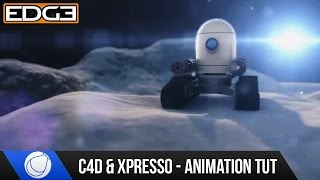 Cinema 4D Tutorial - Quickly Animate on a Surface using Xpresso HD