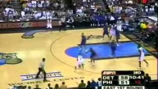 Allen Iverson 37pts 15 asts vs Pistons 2005 NBA Playoff
