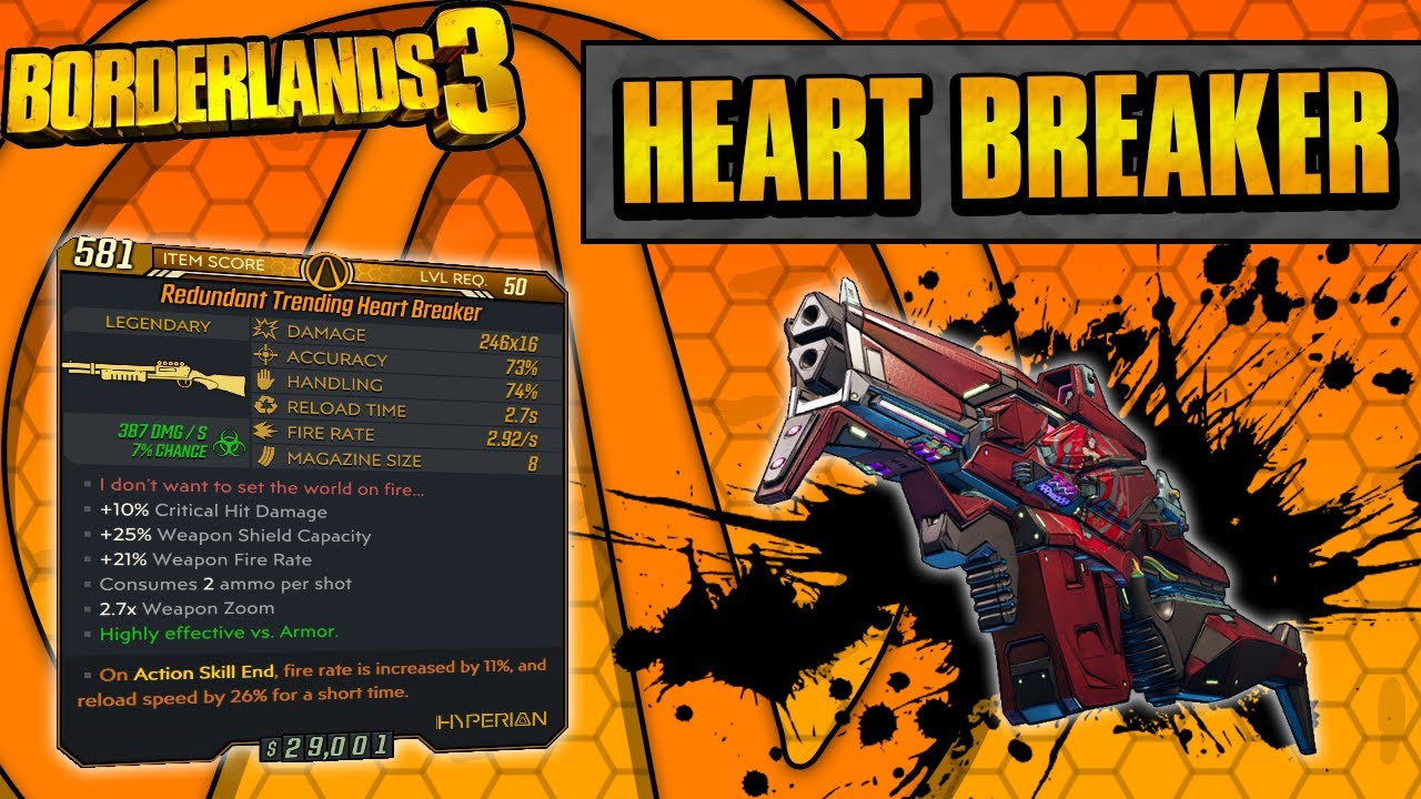 Borderlands 3 | Heart Breaker Legendary Weapon Guide (Hearts And Healing!) thumbnail