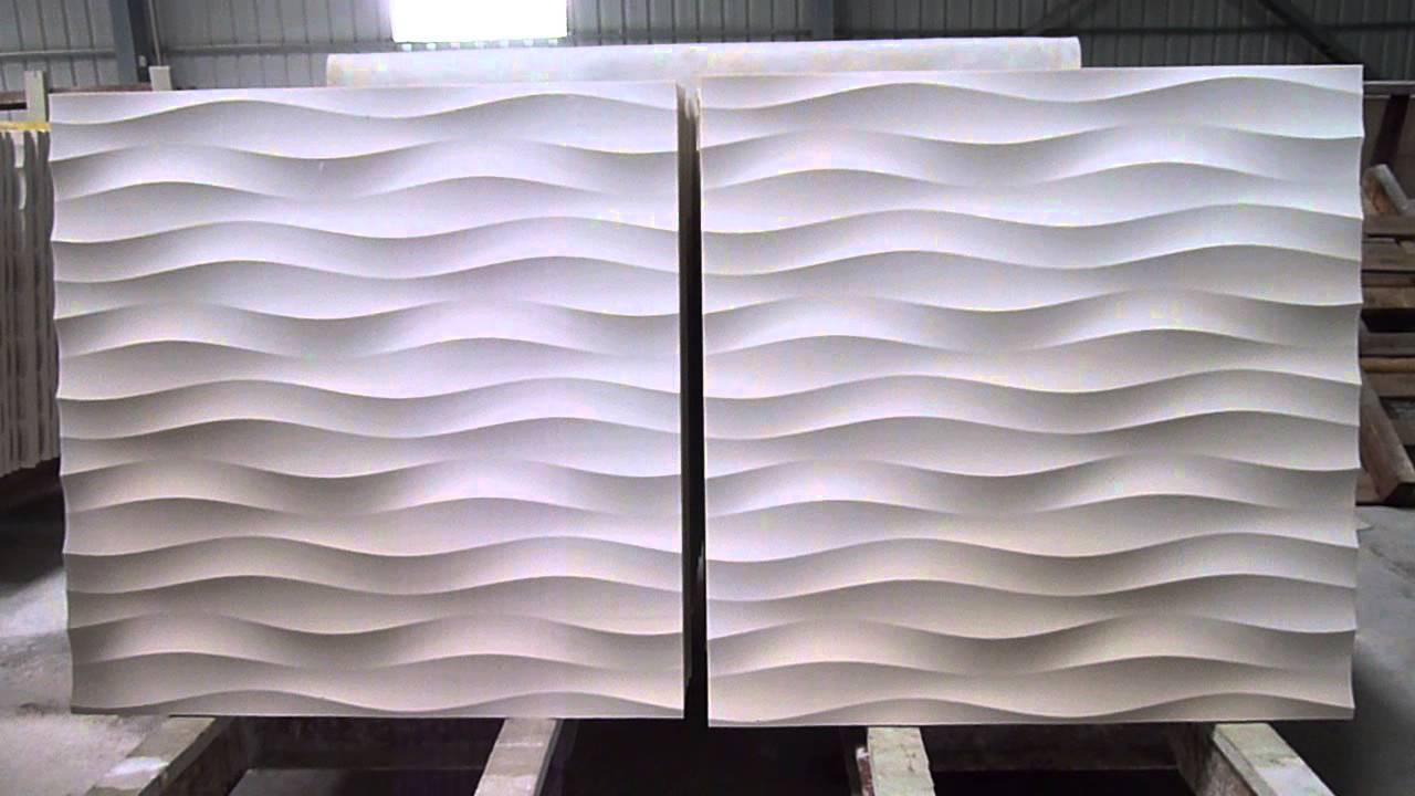 Delightful 3d Feature Stone Wave Wall Panel Design