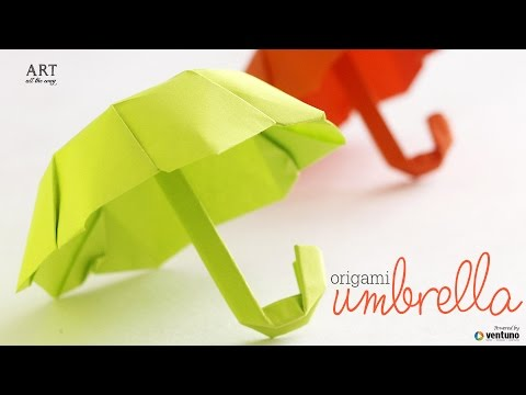 How to Fold : Origami Umbrella