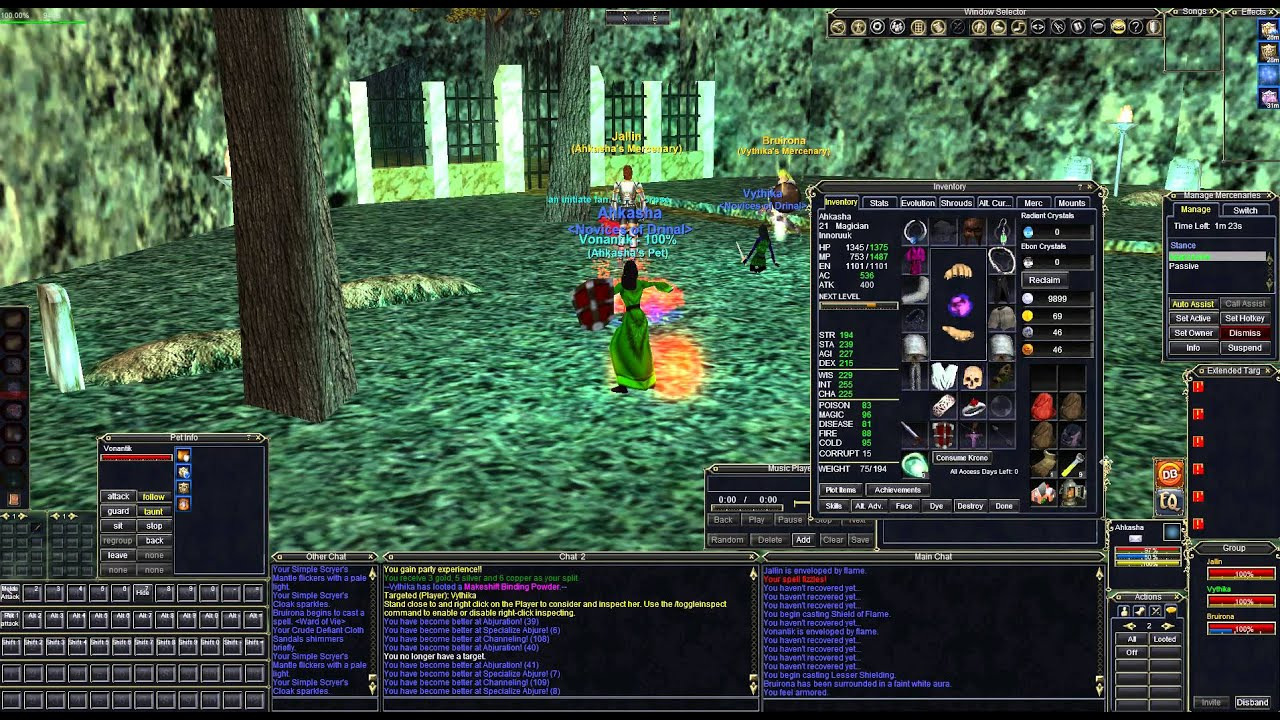 Everquest Castle Mistmoore Graveyard Camp Mage/Rogue Duo
