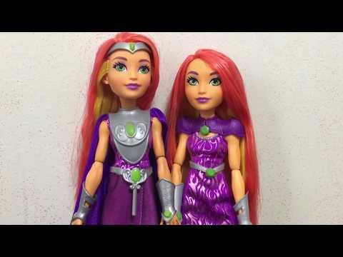 DC SUPER HERO GIRLS INTERGALACTIC GALA STARFIRE REVIEW & DOLL COMPARISON
