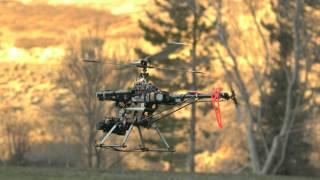 Slow motion RC Helicopter TREX700e AP/AV Aerial Rig at 1500fps