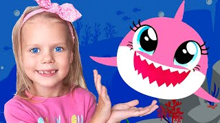 Baby Shark Dance and more | Best Summer Songs | Animals Songs For Children with Vitalina