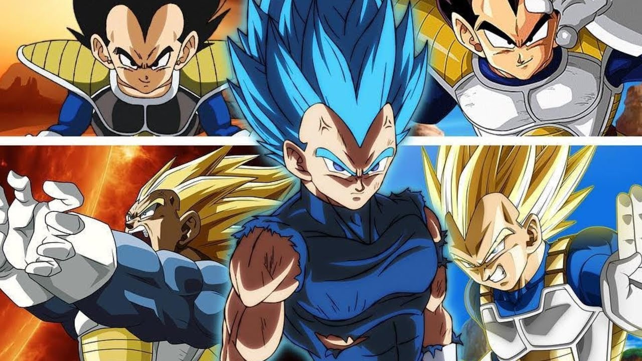 Vegeta All Forms And Transformations Remastered Hd