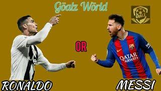 Cristiano Ronaldo OR Lionel Messi   All Skills & Goals   - Göalz World