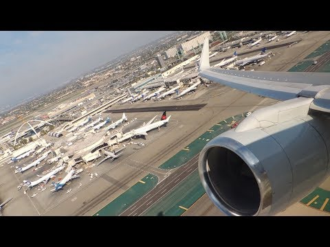 American Airlines Boeing 757-200 [N939UW] Push Back, Start Up, And Takeoff From LAX