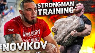 Novikov & Torokhtiy / Strongman training: Atlas Stone & Dumbbell workout. Preparation Arnold Classic