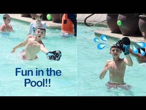 Playing Baseball In The Pool