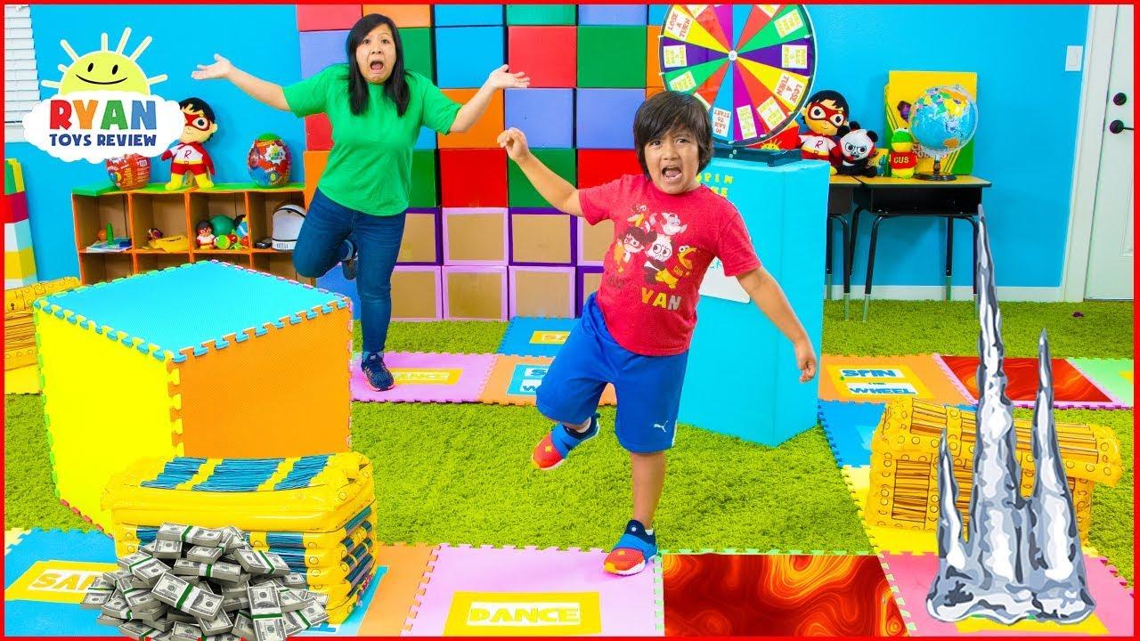 Giant Board Game Challenge! Winner get huge Treasure Chest!!!