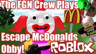 The FGN Crew Plays: ROBLOX - Escape McDonalds Obby (PC)