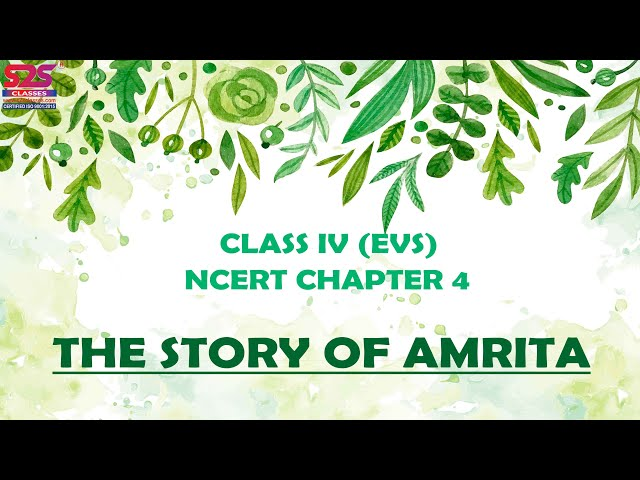 The Story of Amrita NCERT Class 4th EVS Chapter 4