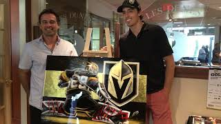 NHL Vegas Golden Knights Goalie Marc-André Fleury avec Artiste Eric Sevigny