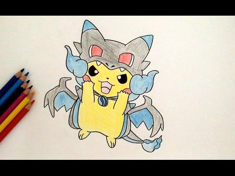 Comment Dessiner Pikachu Dracaufeu X Pokémon Youtube
