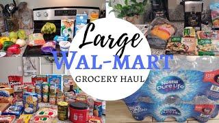 Huge walmart grocery haul | budget friendly Meal ideas | Budgetfam