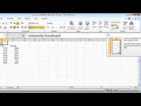 excel tutorial grouping worksheets to copy cell values across worksheets youtube. Black Bedroom Furniture Sets. Home Design Ideas
