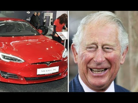 Prince Charles took a speedy Tesla Model S for a spin on his Scottish estate