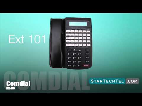 How To Change The Extension User Names On The Comdial DX-80 Phone