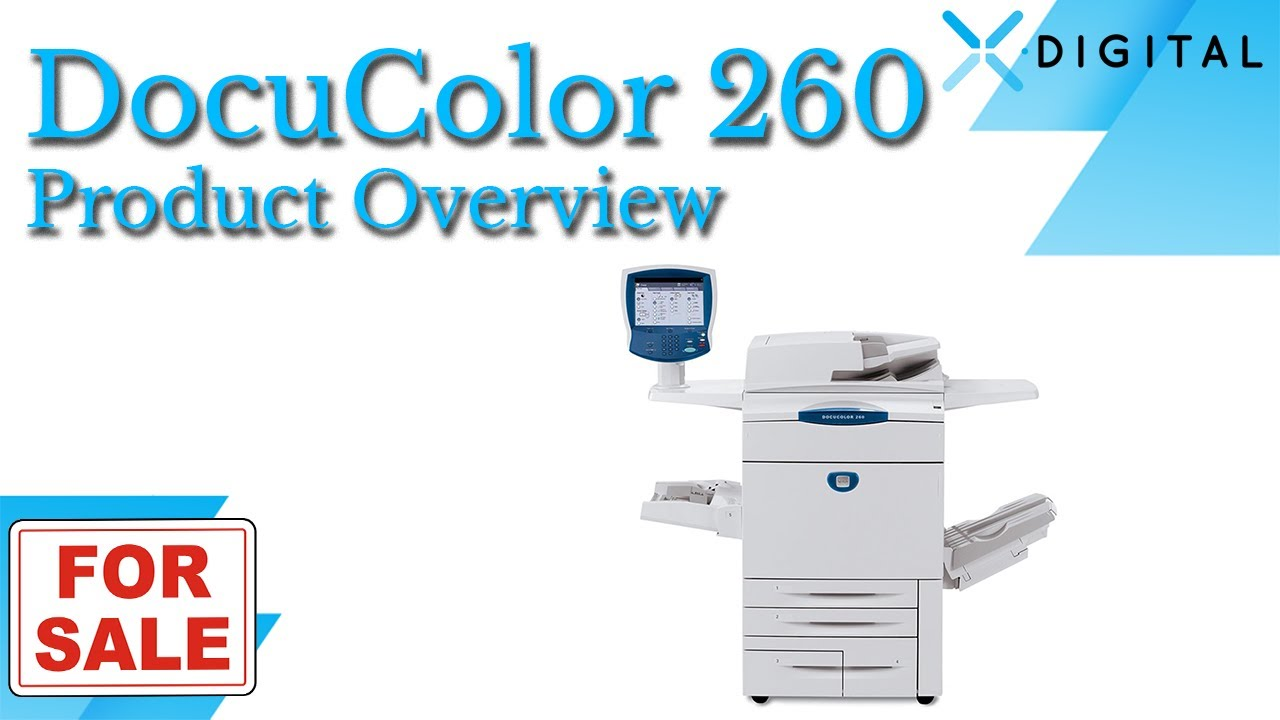 Xerox Docucolor 260 For Dc260 With Light Production Finisher And External Fiery You