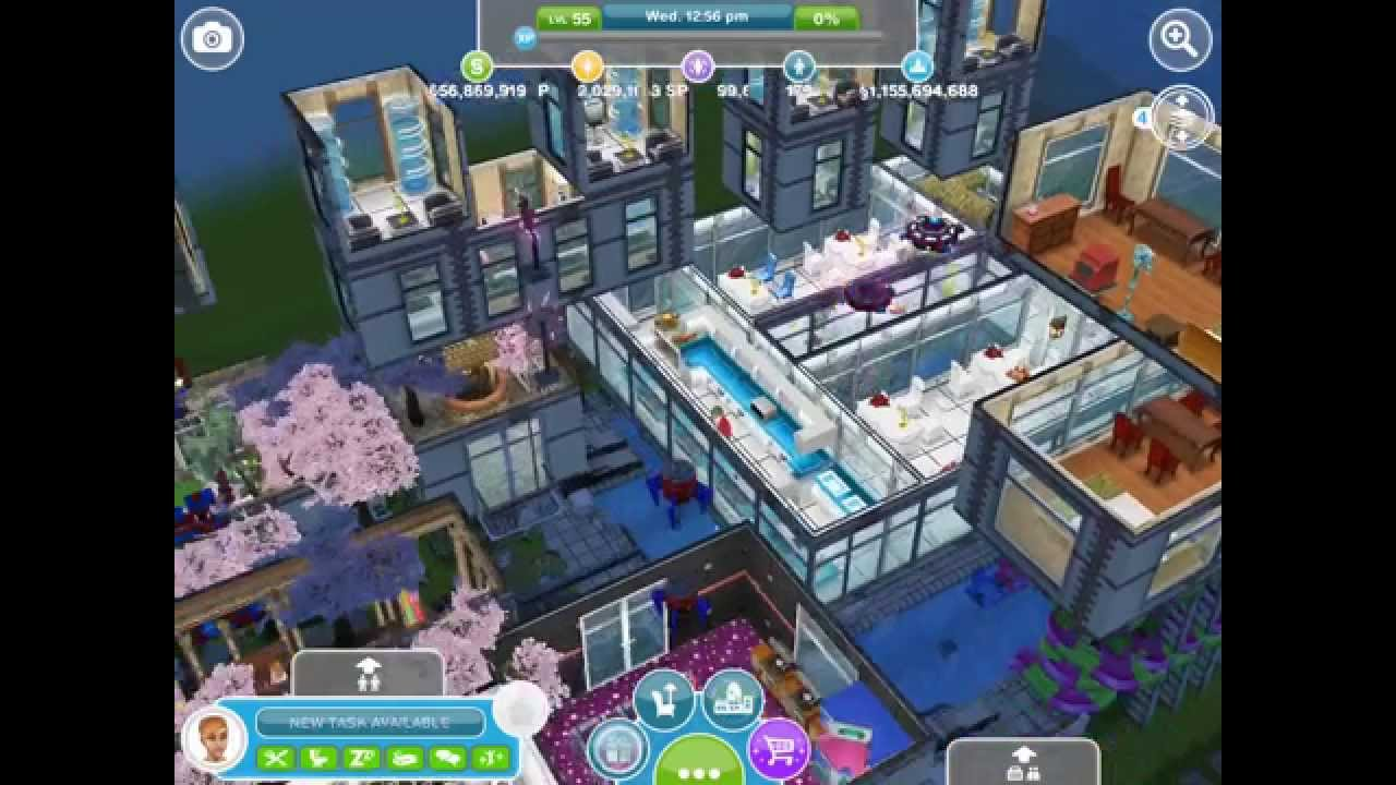Sims freeplay glitchy town house building balcony for Sims 4 balcony