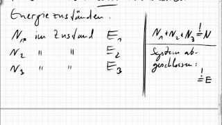 02A.5 Boltzmann-Statistik per Skalarprodukt hergeleitet