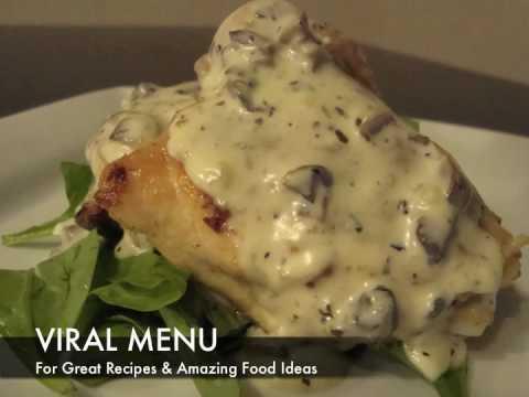 Chicken With A Mushroom Sauce - Viral Menu