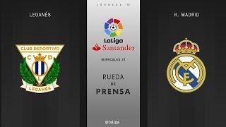 Rueda de prensa Leganés vs R. Madrid