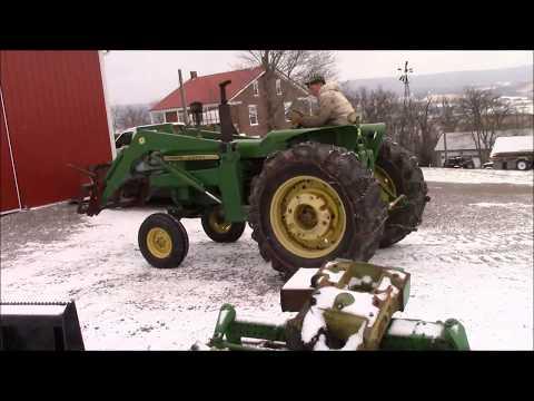 Tractor Tire Chain Install