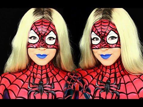 Spider Woman Makeup & Body Paint Tutorial