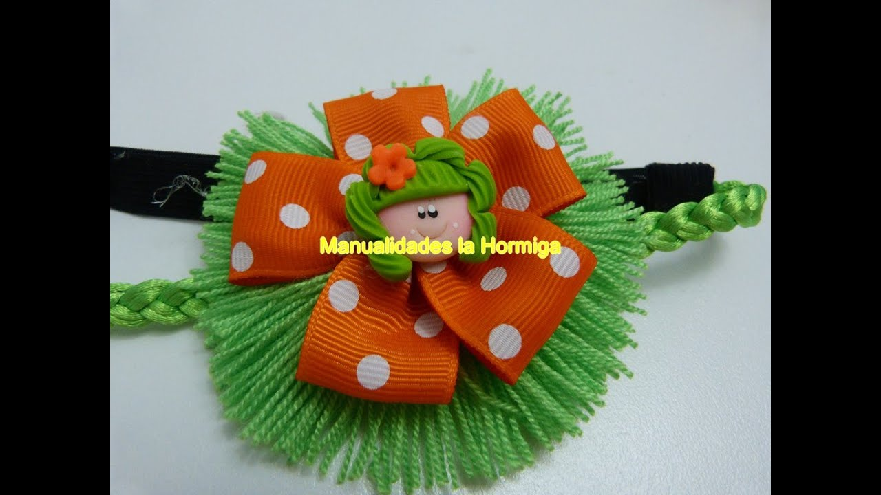 Como hacer mo os en cinta f cilmente how to make a hair - Como hacer manualidades con lana ...