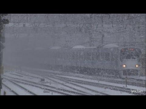 EMU Train & Heavy snowfall (TOKYO) 2013/1/14 (降雪で真っ白) りんかい線 70-000形電車