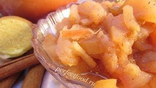 Запечённые в духовке яблоки - видео-рецепт