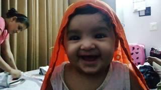 Keya's Laugh and Beautiful Look | 6 months Baby Girl | Kids random Clicks | Keya the cute baby #Keya
