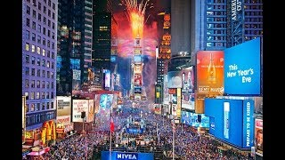 Times Square 2018 New year New York City 2018