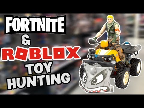 FORTNITE TOYS AND ROBLOX TOYS HUNTING @ WalMart GameStop & Target / Hunting For Quadcrasher & MORE