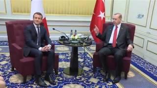 Cumhurbaşkanı Erdoğan, Fransa Cumhurbaşkanı İle Görüştü