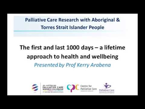 The First and Last 1000 Days – A Lifetime Approach to Health and Wellbeing.