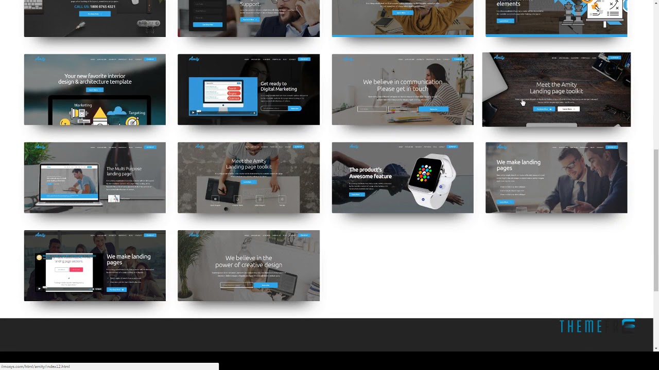 Amity - HTML5 Bootstrap Landing Page Templates Amias Woodrow - YouTube