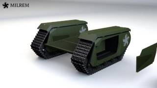 ROBOT TANK DRONE: Unmanned Ground Vehicle | RUN FOR YOUR LIVES!