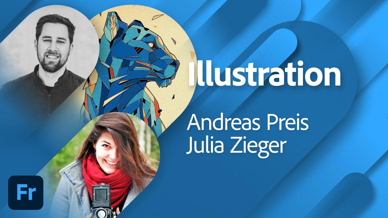 Illustration mit Andreas Preis und Julia Zieger  Adobe Live