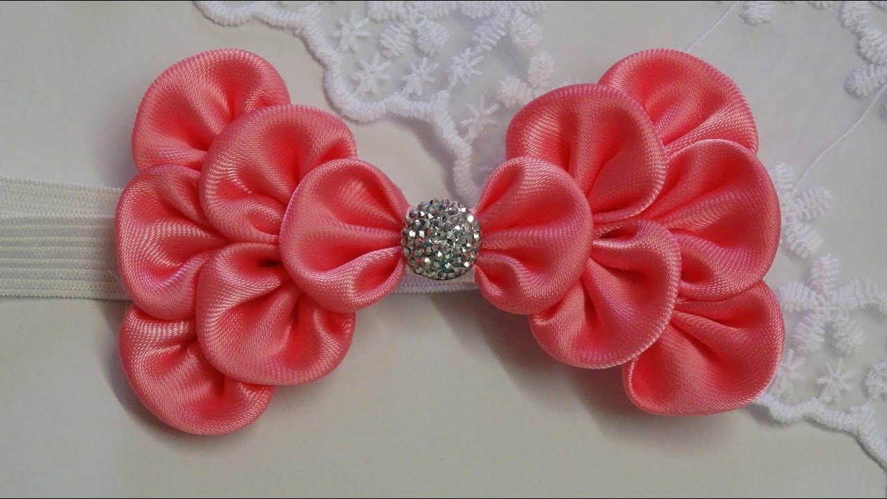make kanzashi hair bow diy