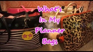What's In My Planner Bags