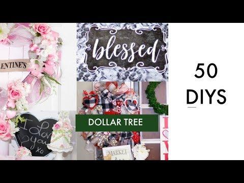 💖 50 DIY DOLLAR TREE VALENTINES & WINTER DECOR CRAFTS 💖 DECO MESH WREATH, CENTERPIECE