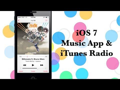 iOS 7 Music App & iTunes Radio Hands-on Video - iPhone Hacks