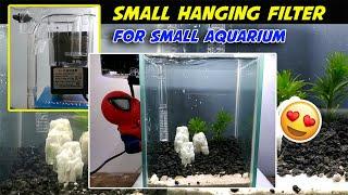 Mini Filter (Hanging) For Nano Tank - Review Hang on Filter Aquarium / Aquascape