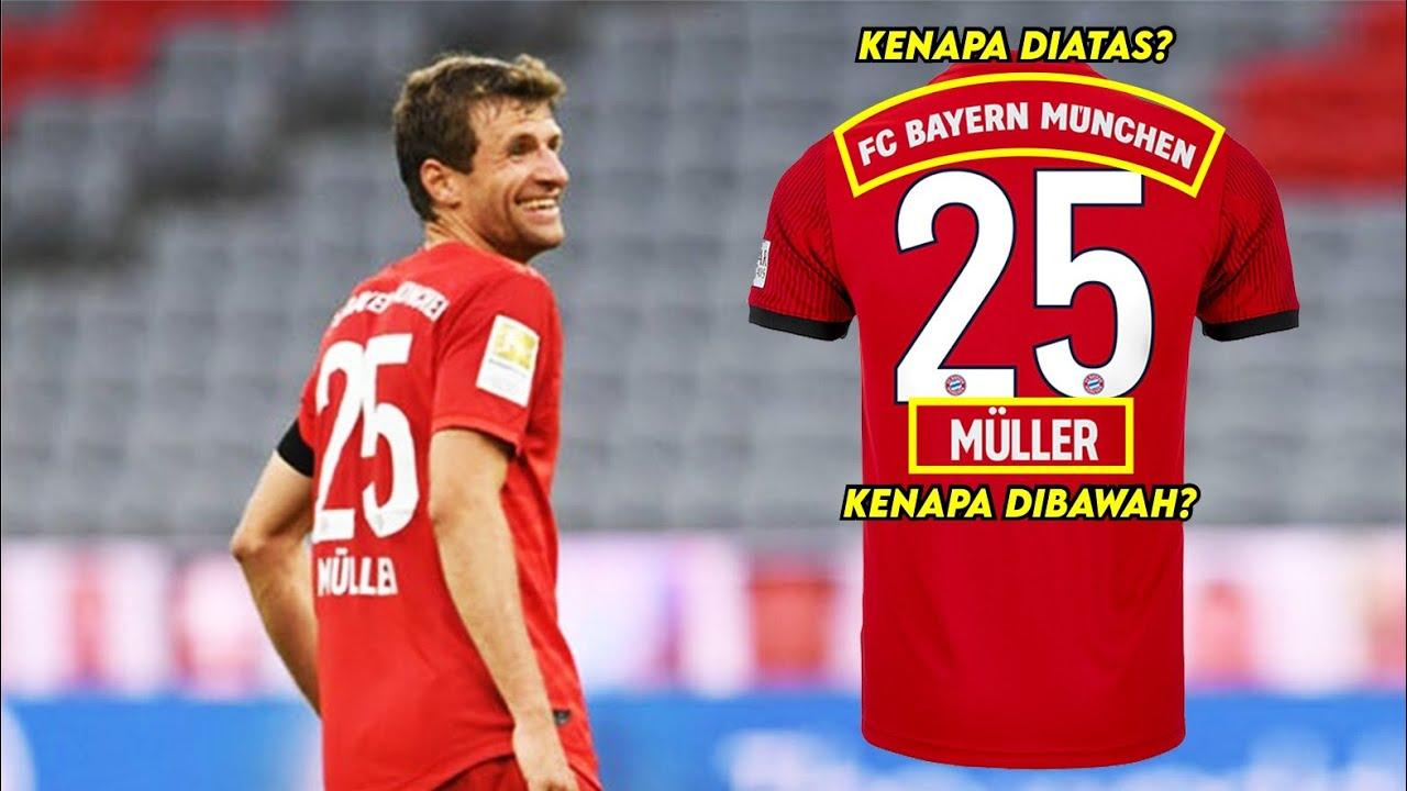 Mengapa Bayern Munchen menaruh nama pemain di bawah nomor jersey?