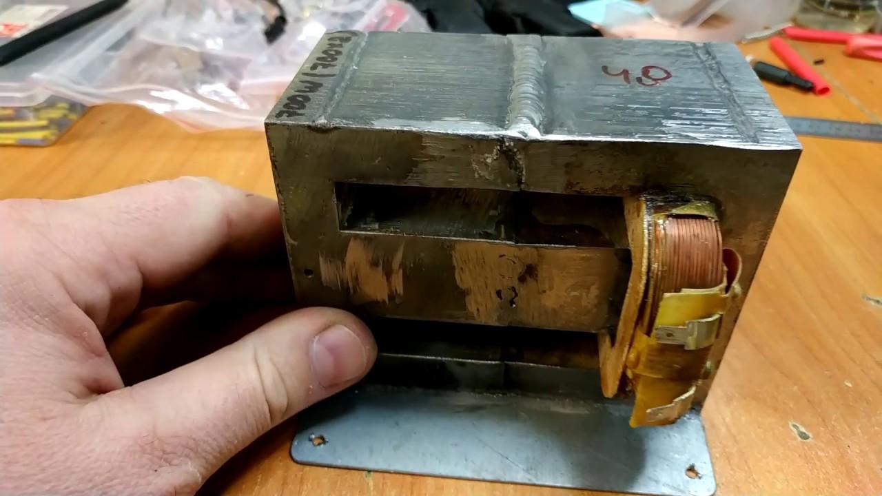 Точечная сварка на сборке из двух трансформаторах по 700Вт.